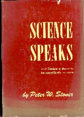 On Line Book Science Speaks By Peter Stoner Peter W Stoner